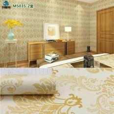 Wallpaper Sticker Dinding Motif Batik Gold 10M X 45Cm