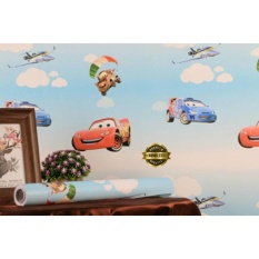 Spesifikasi Wallpaper Sticker Dinding Motif Kartun Cars Glory Terbaru