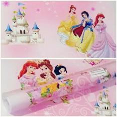 Toko Wallpaper Sticker Dinding Pink Kartun Princess Sanwell Austindo