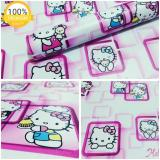 Review Toko Wallpaper Sticker Dinding Putih Kartun Anak Hello Kitty Bingkai Kotak Pink Online