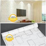 Toko Wallpaper Sticker Dinding Putih Kotak Kotak Abstrak Minimalis Modern Elegan Terdekat