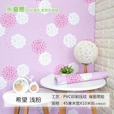 Wallpaper sticker dinding roll 10 meter Shabby