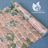 Jual Wallpaper Sticker Premium 10 Meter Bata Coklat Daun Branded Murah