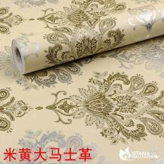 Wallpaper Sticker Premium 10 Meter - Batik Silver Krem