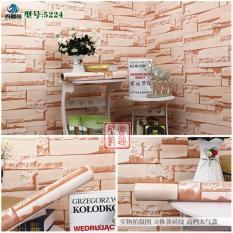 Beli Wallpaper Sticker Premium 10 Meter Batu Alam Brown Online Murah