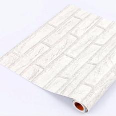 Jual Wallpaper Sticker Premium 10 Meter Batu Bata Putih Branded Original