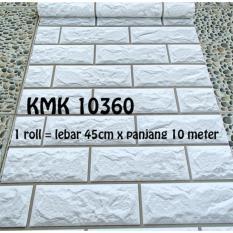 Harga Termurah Wallpaper Sticker Premium 10 Meter Batu Bata Putih Elegan