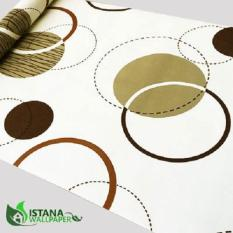 Beli Wallpaper Sticker Premium 10 Meter Circle Bg Krem Wall Decor Murah