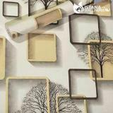 Beli Barang Wallpaper Sticker Premium 10 Meter Elegan Square Cream Online