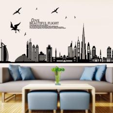 Toko Wallsticker 60X90 Wallstiker Trans Jm7280 Dubai City Wall Sticker