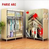 Promo Wardrobe 02 Double Paris Arc Rak Baju Serbaguna Lemari Baju Serbaguna Double Akhir Tahun