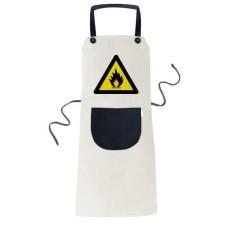 Simbol Peringatan Kuning Hitam Api Triangle Memasak Dapur Krem Dapat Disesuaikan Bib Celemek Saku Wanita Pria Chef Hadiah-Internasional