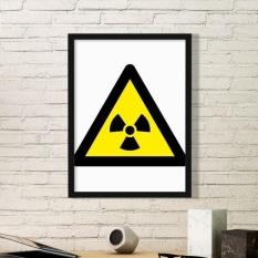 Simbol Peringatan Kuning Hitam Ionisasi Radiasi Segitiga Tanda Mark Logo Pemberitahuan Gambar Home Wall Decal-Intl