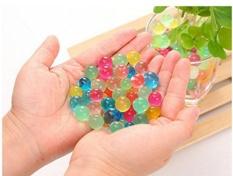 Water Beads, 8000 Pcs Crystal Water Bead Gel [Rainbow Mix] untuk Pengalaman Sensitif Taktis Anak-anak, Orbeez Refill, Vacuum Vacuum Center Center, Tanah, Tanaman Hiasan-Internasional