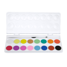 Spek Watercolour Paints Cake Set Of 16 Assorted Colors Kids Non Toxic Paint Sketch Set With Brush Intl Tiongkok