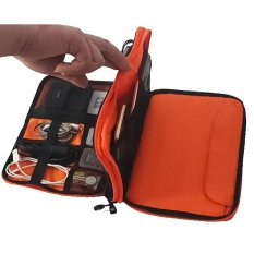 Waterproof Double Layer Cable Organizer Tas Adaptor Sd Kartu Usb Penyimpanan Bag Big Intl Oem Diskon 30