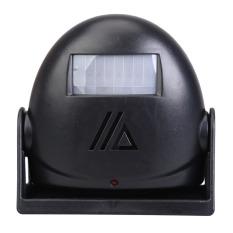 Selamat Datang Di Lonceng Sensor Gerak 10 M Peringatan Alarm Bel Pintu (hitam)