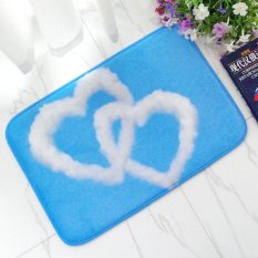 Selamat Datang Tikar Awan Putih Dicetak Kamar Mandi Dapur Karpet Anti-Slip Rug House Kipas Pelapis untuk Ruang Tamu 50X80 Cm-Intl