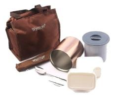 Jual Weston Mini Lunch Box Ii Cokelat Satu Set