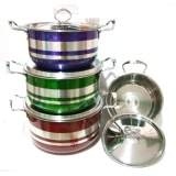 Jual Weston Panci Set Stainless Steel Stock Pot Colorful Warna 8 Pcs Satu Set