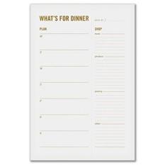 Untuk Makan Malam Meal Planning Daftar Grocery Notepad dengan Magnet Kulkas-Keluarga Mingguan Perencana Makan dengan Berlubang, merobek Makanan Daftar Belanja-Internasional