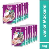 Harga Whiskas Pouch Kitten Junior Mackerel 85Gr 12 Pcs Terbaik