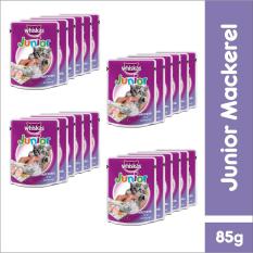 Review Whiskas Pouch Kitten Junior Mackerel 85Gr 24 Pcs Jawa Barat