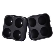 Toko Whiskey Cocktail Ice Cube Ball Maker Mold 4 Large Sphere Silicone Mold Intl Terlengkap Dki Jakarta