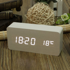 Jual Putih Led Digital Alarm Clock Kalender Modern Termometer Usb Aaa Original
