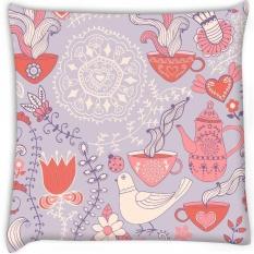 White Pigeon Secara Digital Dicetak Cushion Cover Pillow 8X8 Inch-Intl