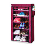 Review Pada Whiz Amazing Portable Shoe Rack 6 Layers With Dust Cover Purple