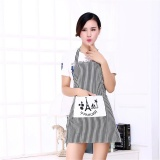 Jual Whyus Couples Cotton Linen Stripe Kitchen Restaurant Bib Cooking Aprons With Pockets Tower Intl Murah