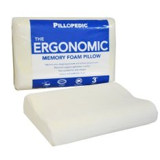 Review Terbaik Willow Pillopedic Ergonomic Small Memory Foam