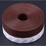 Cuci Gudang Jendela Segel Pintu Cuaca Strip Ambang Pintu Sapu Bawah Draft Stopper 45X3000Mm Coklat Internasional