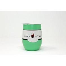 Anggur Down 9 Oz Anti Karat Anggur Kaca Tumblers Ramah Lingkungan Bening Plastik Tutup W/Karet Segel Sempurna untuk Luar Ruangan teras, dapur, Piknik, Mobil, Rumah, Perjalanan Teman, Pelajar (1, Hijau)-Internasional