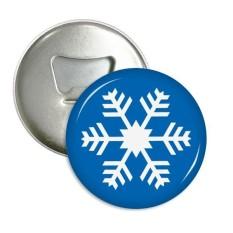 Musim Dingin Olahraga Biru Kepingan Salju Silhouette Sepanjang Pembuka Botol Magnet Kulkas Pins Lencana Tombol Hadiah 3 Pcs-Internasional