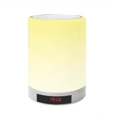 Nirkabel Hands-free Bluetooth Speaker Emosi LED Lampu Smart Alarm Clock dengan Tripod-Intl