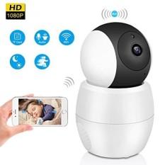 Nirkabel Rumah Keamanan Kamera, HD 1080 P WIFI IP Kamera, panorama Lensa Lebar Sudut 355 Derajat 2mp Komunikasi Audio Dua Arah Malam Vision Gerakan Terdeteksi untuk Peliharaan Bayi rumah Kantor Monitor-Internasional