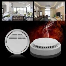 Wireless Home Keamanan Detektor Asap Fire Alarm Sensor Sistem Cordless White-Intl