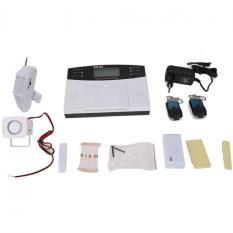 LCD Nirkabel GSM SMS Anti Maling Rumah Keamanan Rumah Sistem Alarm Kebakaran Otomatis Panggilan Alarm-Internasional