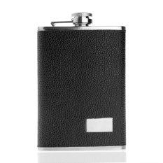 Wise Membeli 255 15G Stainless Steel Alkohol Meminum Minuman Keras Botol Kulit Pinggul Saku Hitam Hong Kong Sar Tiongkok Diskon 50