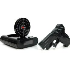 Womdee Oversleep Target Laser Shooting Alarm Clock dengan LED Display Recording Table Clock, Hijau Tentara-Internasional