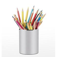 Womdee Pen Pensil Holder, Kreatif Sederhana High-end Kantor Bisnis Pen Holder Stainless Steel Pensil Pemegang Meja Meja Organizer Kontainer-Internasional