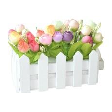 24 M Buatan Mawar Bunga Palsu Dedaunan Vine Ivy Daun Pernikahan ... 92daf0601e