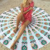 Beli Pantai Wanita Menutupi Jubah Cetak Tikar Bulat Hippie Musim Panas Pakaian Renang Baju Renang Hijau Tua Internasional Yang Bagus