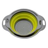 Spesifikasi Wond 2Pcs Set Collapsible Net Filter Colander Set Silicone Washing Drying Strainer Green Intl Oem Terbaru