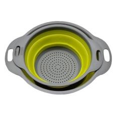 Diskon Wond 2Pcs Set Collapsible Net Filter Colander Set Silicone Washing Drying Strainer Green Intl Oem Di Tiongkok