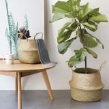 Toko Wond Lamun Alami Woven Penyimpanan Pot Foldable Garden Vas Bunga Gantung Keranjang 22X20 Cm Intl Oem