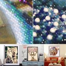 Kekuatan Luar Biasa Hot Produk Animal Cross Stitch DIY 5D Diamond Diamond Lukisan Bordir 7 Styles-Multicolor-Empat Lions 25X30 Cm-Intl