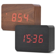 Wooden Digital Backlight LED Table Alarm Clock Snooze Thermometer Calendar CT 132204923947 - intl